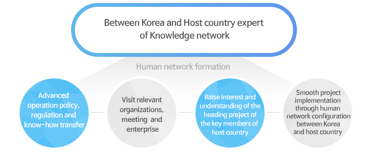 Between Korea and Host country expert of Knowledge network